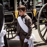 William Polston, 11, of Minneapolis, Minn.,descendant of one of the original pallbearers