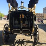 Lincoln Hearse as it starts the trip to Old State Capitol